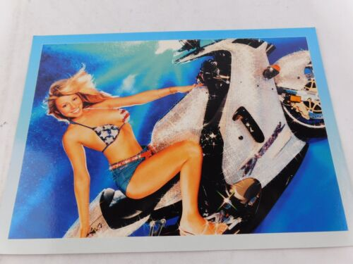 MARIAH CAREY 2001 GLITTER MOTORCYCLE PROMO CARD 5 x 7 ORIGINAL