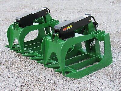 72 Heavy Duty Root Rake Grapple Bucket Attachment For John Deere Tractor Loader