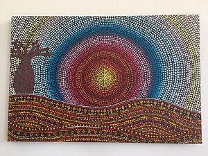 Scorcher Original Dot Painting by Pilbara Artist Make an Offer Kalamunda Kalamunda Area Preview