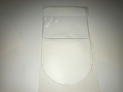 QTY 100 SHIELD / PERMIT / TAX DISC HOLDERS REF WHITE