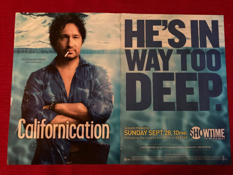 David Duchovny in Californication Showtime 2008 Ad/Poster Promo Art Ad