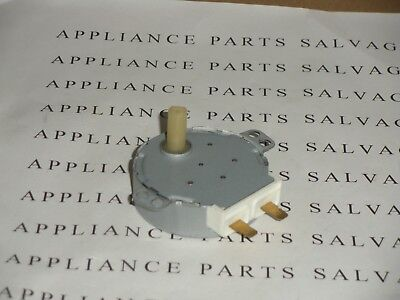 """49TYD-16A1 PLASTIC """"D"""" SHAFT TURNTABLE MOTOR PULLED FROM A CLEAN MICROWAVE OVEN"""