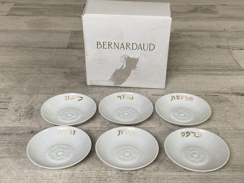 "Bernardaud Louvre Seder 6 Individual 4"" Dishes 1003 New $170"