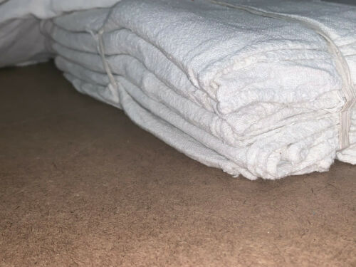 """1500 Pieces New WHITE Shop Towels Rags Industrial 14""""x14"""""""