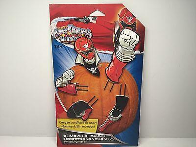 Power Rangers Super Megaforce Pumpkin Push Ins Halloween Decor Red - Power Ranger Megaforce Halloween
