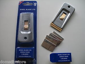 QUALITY-JEWEL-BLADES-DECORATORS-SINGLE-EDGED-SCRAPER-5-REPLACEMENT-BLADES