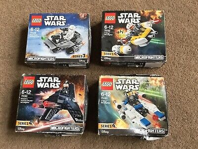 LEGO - DISNEY STAR WARS x4 MICROFIGHTERS - SET'S  75160 + 75126 + 75162 + 75163