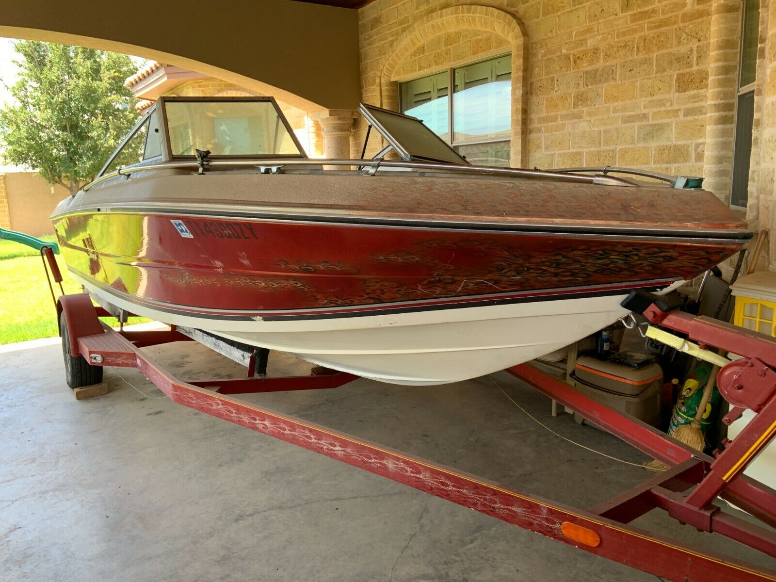 Stingray Boat and Trailer  19ft  170HP