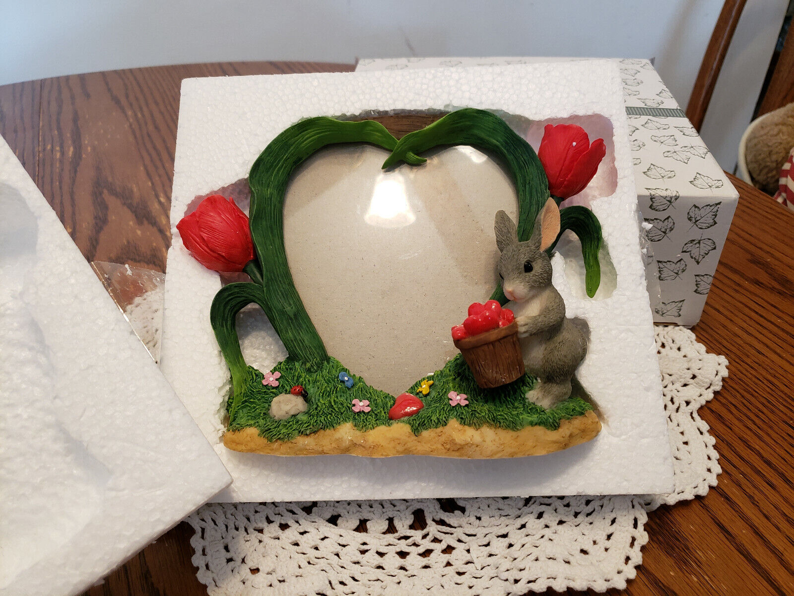 Fitz & Floyd Charming Tails HEART PICTURE FRAME