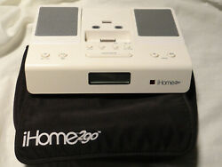 iHome2go Portable Travel Alarm Clock w/ Power for Ipod/Iphone