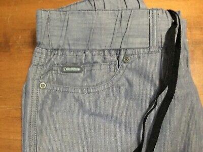 Chef Works Mens Vertical Stripe Chef Pants Size Med Pocketsstretch Waist