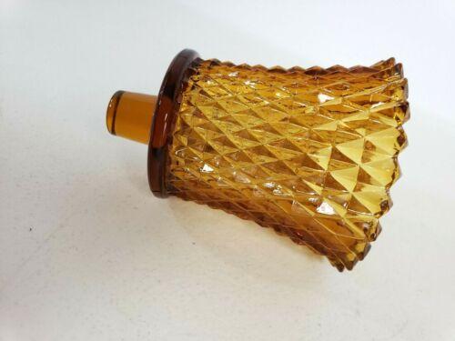 Vintage Amber Glass Hobnail Peg Votive Cups Candle Holder Homco