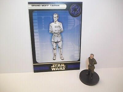 Star Wars Miniatures - Grand Moff Tarkin 27/60 + Card - Rare - Rebel Storm