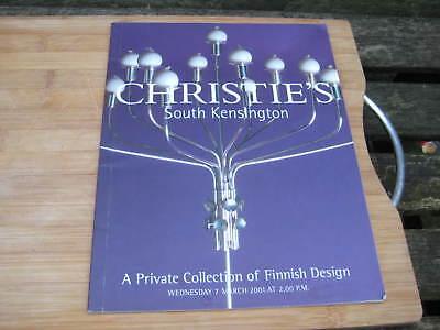 CHRISTIES CATALOGUE PRIV COLLECTION FINNISH DESIGN AALTO HOPEA WIRKKALA +