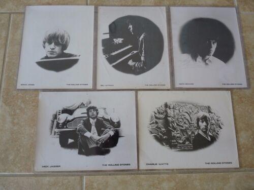 Rolling Stones Set of 5 Original Press Kit Photos 1967? Keith Richards Signed