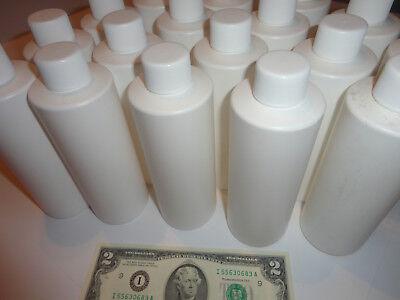 New 8 Oz 240ml White Hard Hdpe Plastic Bottles W Caps Choose Amt Crafts Hb