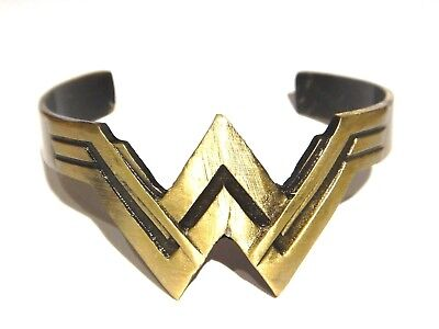 Wonder Woman Gebürstetes Bronze Armband-Stulpe Dc Comics Film Logo Band Hero 6H ()