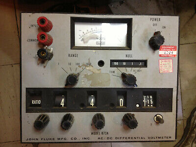 Fluke 873a Acdc Differential Voltmeter