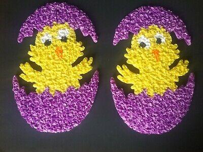 2 plastic popcorn chick in egg easter decor nos manchester ct kage co usa 1970s - Popcorn In Bulk