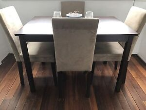 Dining Table & 4 Chairs Potts Point Inner Sydney Preview