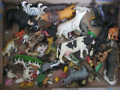 spielzeug tiere bauernhof zoo plastik 87 stück