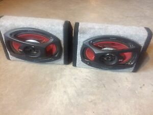 6x9 wedge carpet speaker boxes with Sony Xplod's