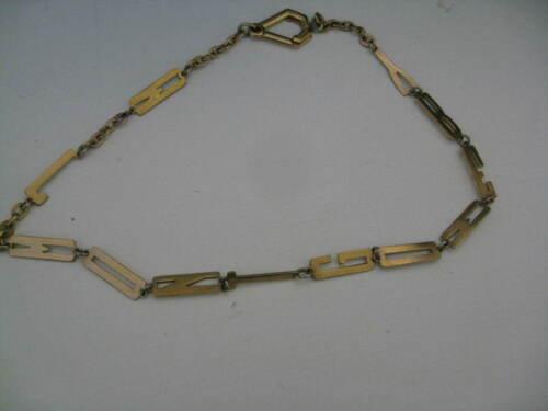 Antique/ Older Vintage Gold Plate Alphabet Watch Chain