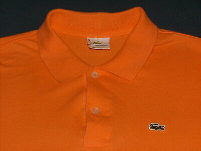 Men's Big & Tall Lacoste Orange Short Sleeve Polo Shirt with Logo Size 9 or 4XL
