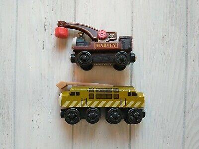 Thomas & Friends Diesel 10 & Harvey Wooden Railway Wood Train Magnetic Trains
