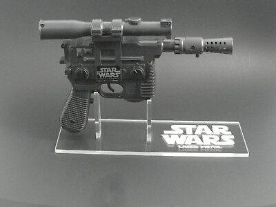 Han Solo Blaster (1 x Acrylic STAND Star Wars Vintage Han Solo Laser Pistol/Blaster - Right)