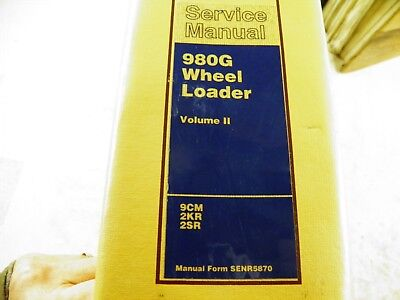 Cat Caterpillar 980g Wheel Loader Service Manual 9cm 2kr 2sr Volume 2