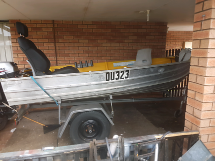 Licensed Boat and trailer, tinny,floatation device.