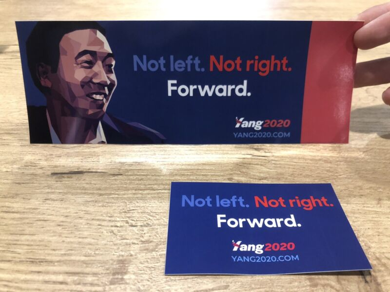 Andrew Yang For President 2020 Sticker Set