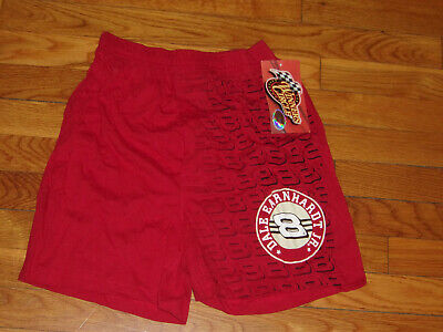 NWT WINNERS CIRCLE NASCAR DALE EARNHARDT JR RED COTTON BOXER SHORTS BOYS SMALL