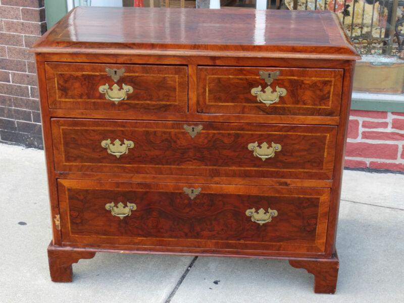 Chippendale Rare Antique 4 drawer bureau chest 18th century Museum Quality