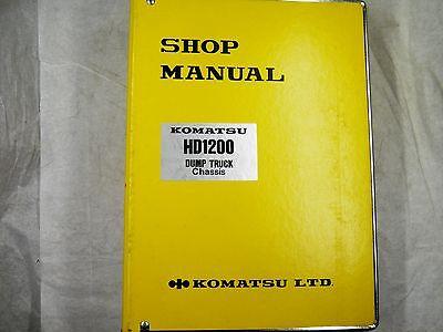 Komatsu Hm1200 Dump Truck Chassis Shop Manual 1005-up Sebm0581a03