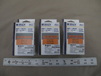3 New Brady Label Cartridge M21-500-595-or Blackorange Vinyl 12 X 21 Bmp21