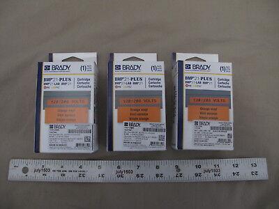 3 New Brady Label Cartridge M21-500-595-or Blackorange Vinyl 12 X 21 Bmp21