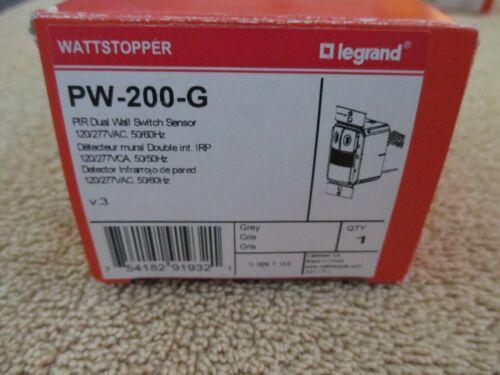 WATTSTOPPER  PW-200-G (PW-200 Grey/gray) PIR Dual Wall Switch Sensor - NEW