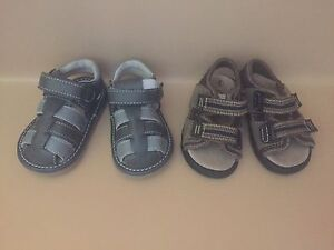 2 x pairs of baby boy shoes, only worn inside West Wollongong Wollongong Area Preview