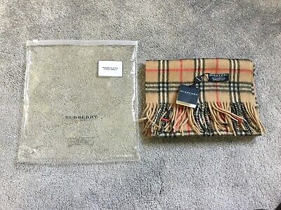 Burberry Scarf Lambswool New Genuine with Tags