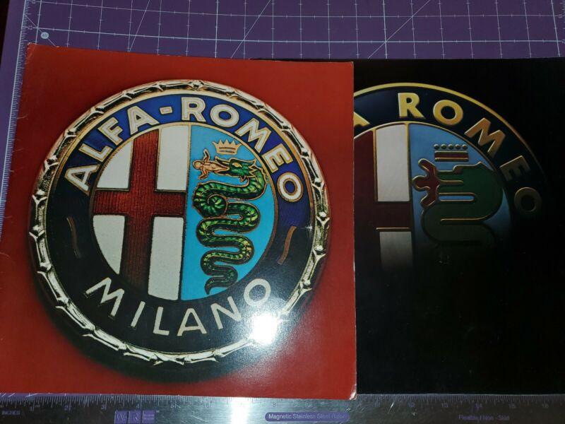 1986/1987 Alfa Romeo brochure lot of 2 Milano