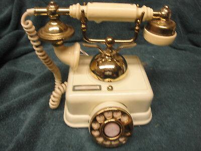 VINTAGE HEAVY ONYX VERSAILLES CORDED TELEPHONE