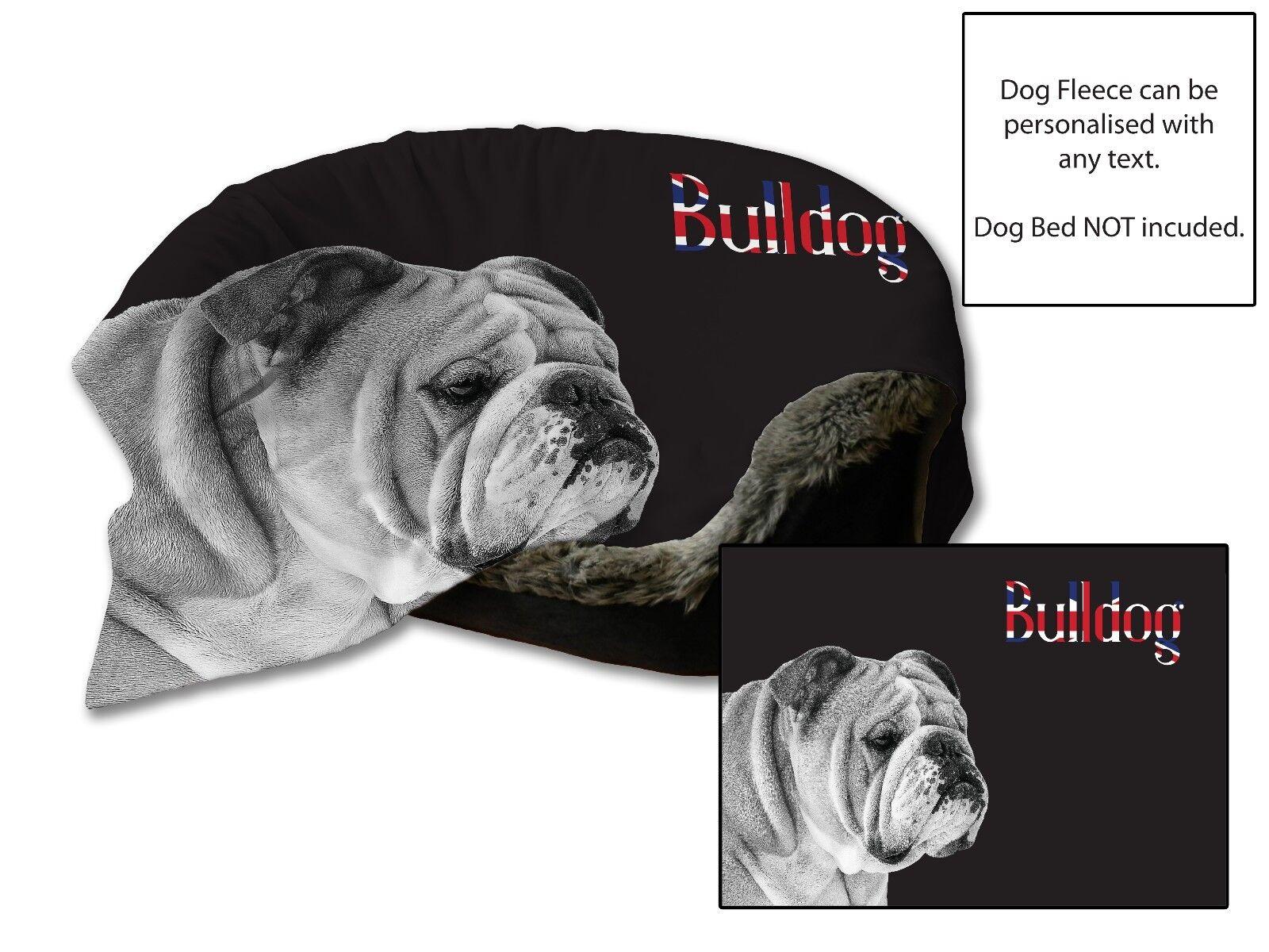 114cmx78.7cm BULLDOG letto per cane AUTO Coperta in morbido pile Copriletto