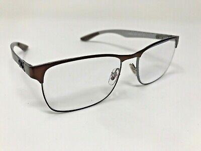 RAY-BAN Rx-able Eyeglasses TECH RB 8416 2915 55-17 Brown Carbon Fiber Frame (Tech Glasses Frames)
