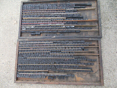 Antique Letterpress Type Wood Blocks Alphabet-complete Set 500 Plus Blocks