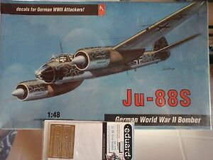 JUNKERS-JU-88-S-1-48-SCALE-HOBBY-CRAFT-MODEL-PHOTOETCHED-BOMBS-amp-SLEDS