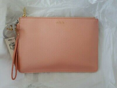 Katie Loxton salmon pink soft clutch bag - BNWT
