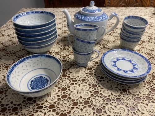 20 piece China Tea Rice Soup Set, pristine condition, never been really used