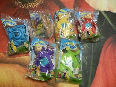 TELETUBBIES 1999 BURGER KING SET OF 6 CLIP TOYS DIPSY PO LALA TINKY NOONOO BUNNY - La La Teletubbies